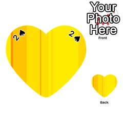 Yellow lines Playing Cards 54 (Heart)