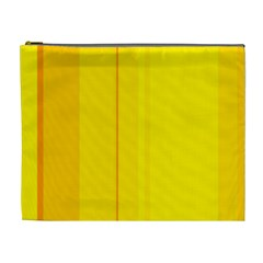 Yellow lines Cosmetic Bag (XL)