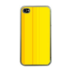 Yellow lines Apple iPhone 4 Case (Clear)