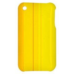 Yellow lines Apple iPhone 3G/3GS Hardshell Case