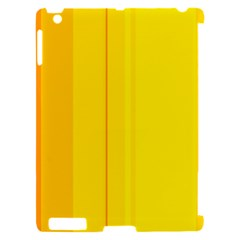 Yellow lines Apple iPad 2 Hardshell Case (Compatible with Smart Cover)