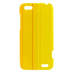 Yellow lines HTC One V Hardshell Case
