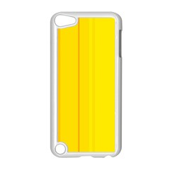 Yellow lines Apple iPod Touch 5 Case (White)