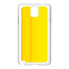 Yellow lines Samsung Galaxy Note 3 N9005 Case (White)