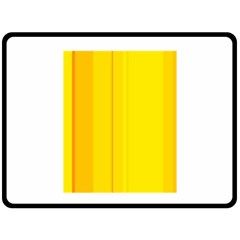 Yellow lines Double Sided Fleece Blanket (Large)