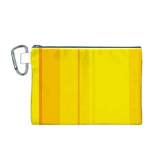 Yellow lines Canvas Cosmetic Bag (M)