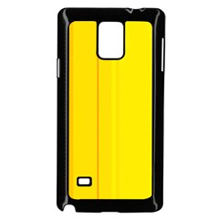 Yellow lines Samsung Galaxy Note 4 Case (Black)