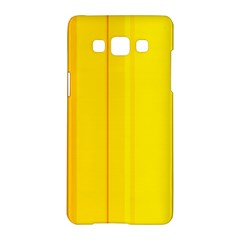 Yellow lines Samsung Galaxy A5 Hardshell Case