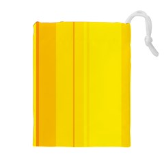 Yellow lines Drawstring Pouches (Extra Large)