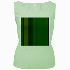 Green elegant lines Women s Green Tank Top