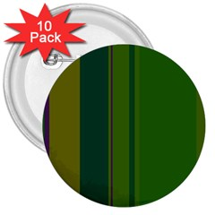 Green elegant lines 3  Buttons (10 pack)