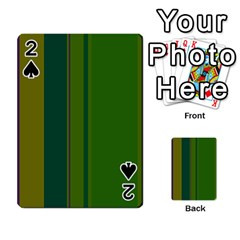 Green elegant lines Playing Cards 54 Designs