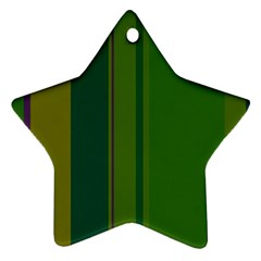 Green elegant lines Star Ornament (Two Sides)
