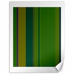 Green elegant lines Canvas 18  x 24