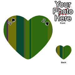 Green elegant lines Playing Cards 54 (Heart)