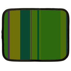 Green elegant lines Netbook Case (Large)