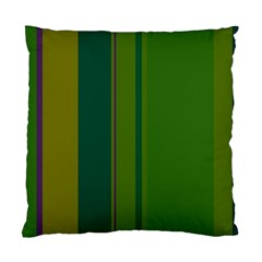 Green elegant lines Standard Cushion Case (Two Sides)