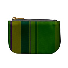 Green elegant lines Mini Coin Purses