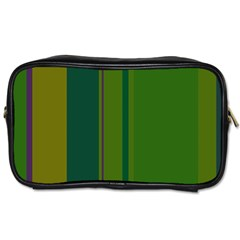 Green elegant lines Toiletries Bags