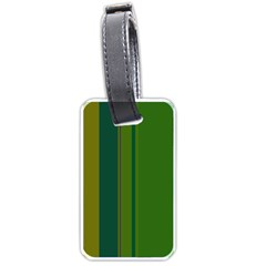 Green elegant lines Luggage Tags (Two Sides)