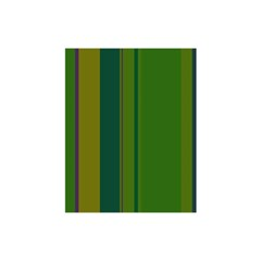 Green elegant lines Shower Curtain 48  x 72  (Small)