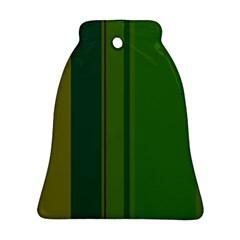 Green elegant lines Ornament (Bell)