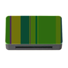 Green elegant lines Memory Card Reader with CF