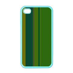 Green elegant lines Apple iPhone 4 Case (Color)