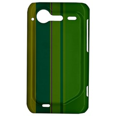 Green elegant lines HTC Incredible S Hardshell Case