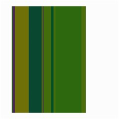 Green elegant lines Small Garden Flag (Two Sides)