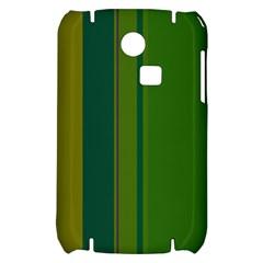 Green elegant lines Samsung S3350 Hardshell Case