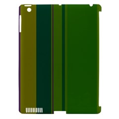 Green elegant lines Apple iPad 3/4 Hardshell Case (Compatible with Smart Cover)