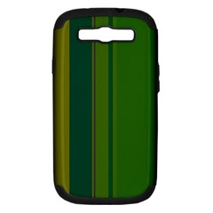 Green elegant lines Samsung Galaxy S III Hardshell Case (PC+Silicone)