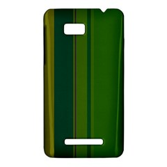 Green elegant lines HTC One SU T528W Hardshell Case