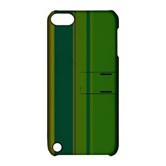 Green elegant lines Apple iPod Touch 5 Hardshell Case with Stand