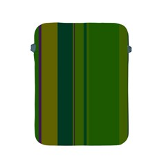 Green elegant lines Apple iPad 2/3/4 Protective Soft Cases