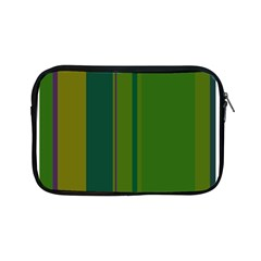Green elegant lines Apple iPad Mini Zipper Cases