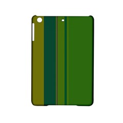 Green elegant lines iPad Mini 2 Hardshell Cases