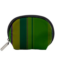 Green elegant lines Accessory Pouches (Small)