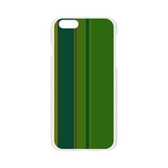 Green elegant lines Apple Seamless iPhone 6/6S Case (Transparent)