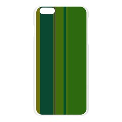 Green elegant lines Apple Seamless iPhone 6 Plus/6S Plus Case (Transparent)
