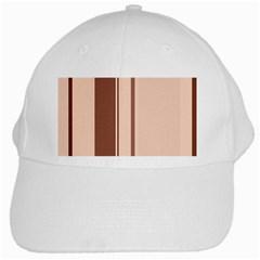 Elegant brown lines White Cap