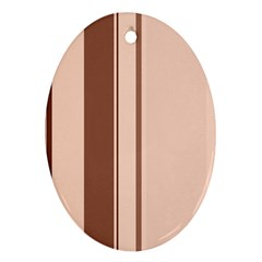 Elegant brown lines Ornament (Oval)