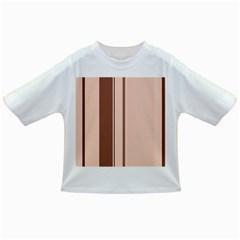 Elegant brown lines Infant/Toddler T-Shirts