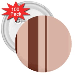 Elegant brown lines 3  Buttons (100 pack)