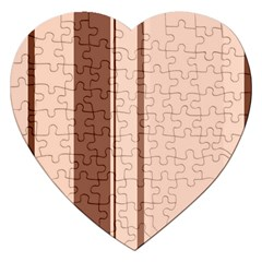 Elegant brown lines Jigsaw Puzzle (Heart)