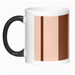Elegant brown lines Morph Mugs