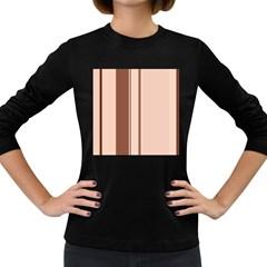Elegant brown lines Women s Long Sleeve Dark T-Shirts