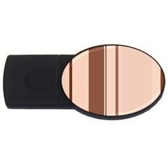 Elegant brown lines USB Flash Drive Oval (4 GB)