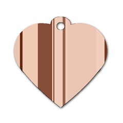 Elegant brown lines Dog Tag Heart (Two Sides)